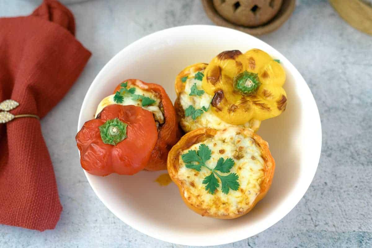 air fryer stuffed peppers